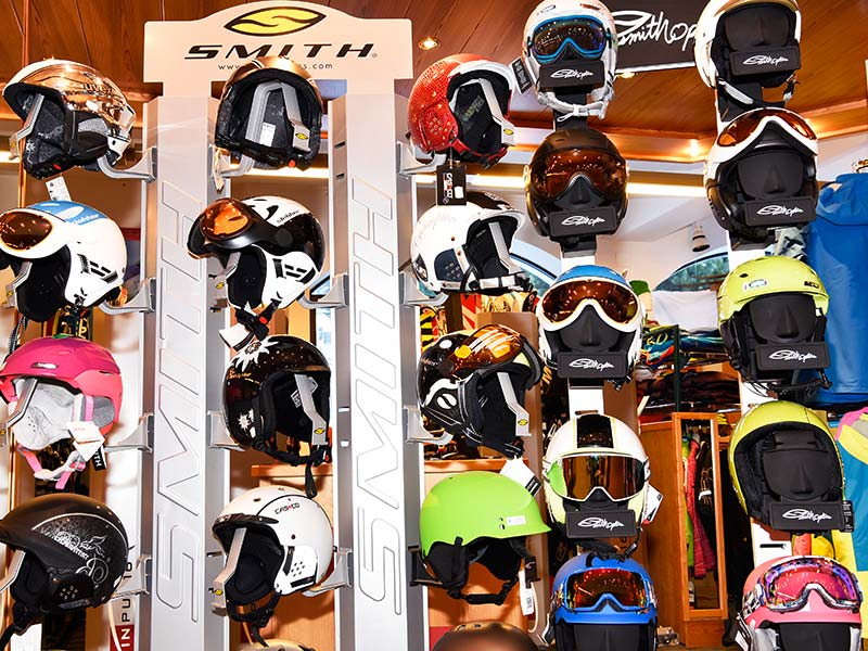 Large selection of helmets and protectors